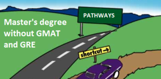 Master's degree without GMAT and GRE