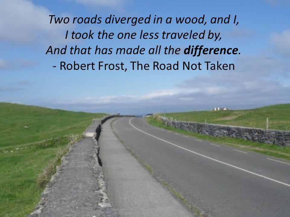 "an analysis of the book the road not taken by robert frost About the poem: ""the road not taken"" was published in the year 1916 as the first poem in the collection of poetry by robert frost entitled mountain interval frost spent the years 1912 to 1915 in england."