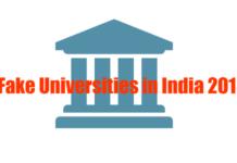 Fake Universities in India 2015