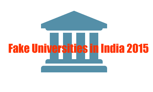 Fake Universities in India 2015