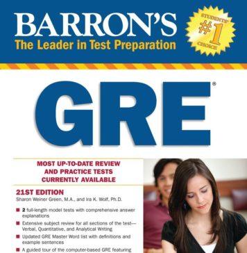 Barrons New GRE Book
